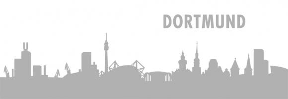 Autoaufkleber Dortmund Skyline Silber