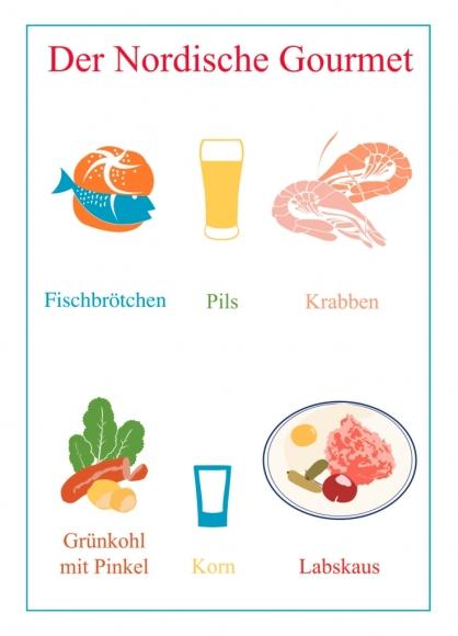 Postkarte: Der Nordische Gourmet