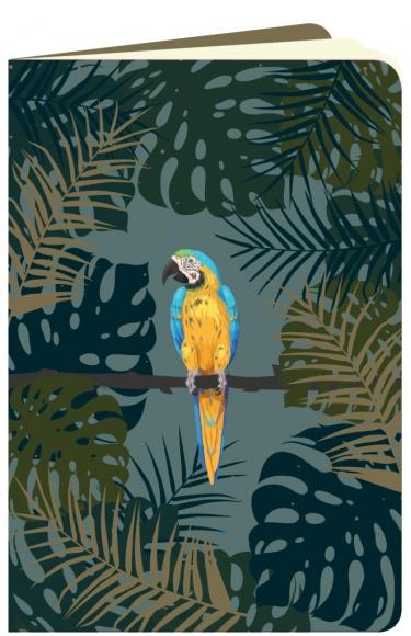 Heft flowerpower Papagei im Urwald