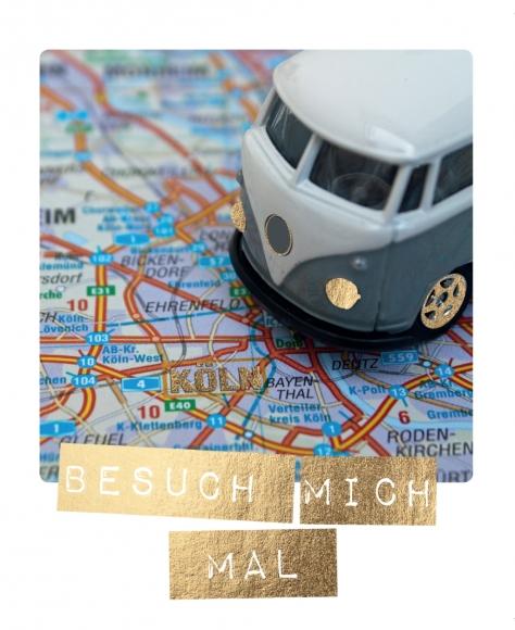 Postkarte: Besuch mich mal