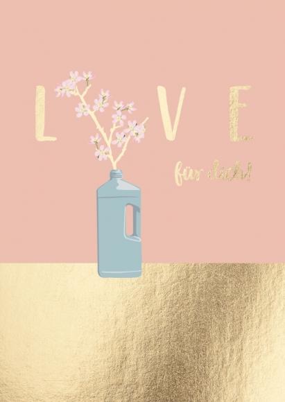 Postkarte: Love für dich