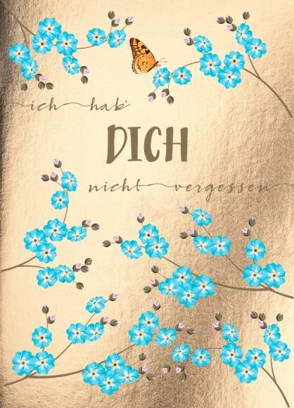 Postkarte: Ich hab Dich nicht vergessen | Flowerpower