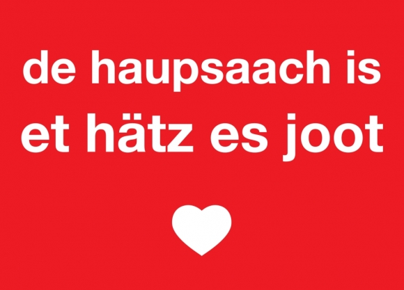 Postkarte:de haupsaach is et hätz es joot