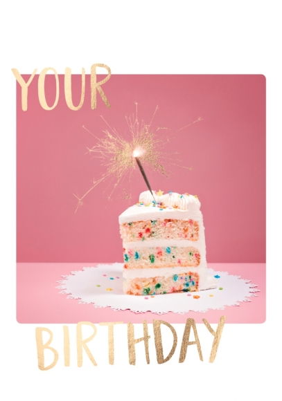 Doppelkarte: Your Birthday