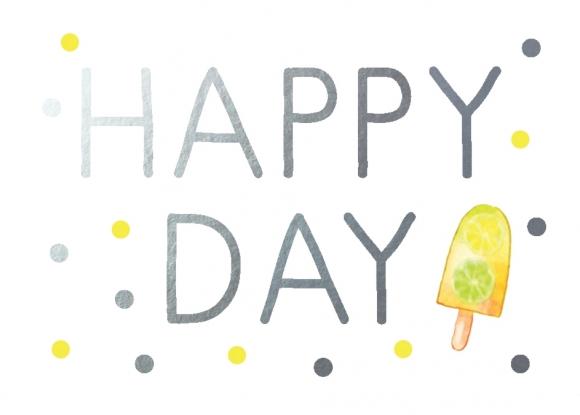 Mini-Doppelkarte: Happy Day - Eis