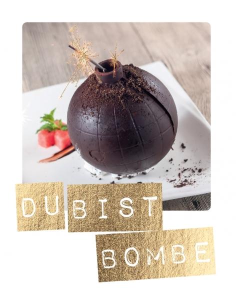 Mini-Postkarte: Du bist Bombe