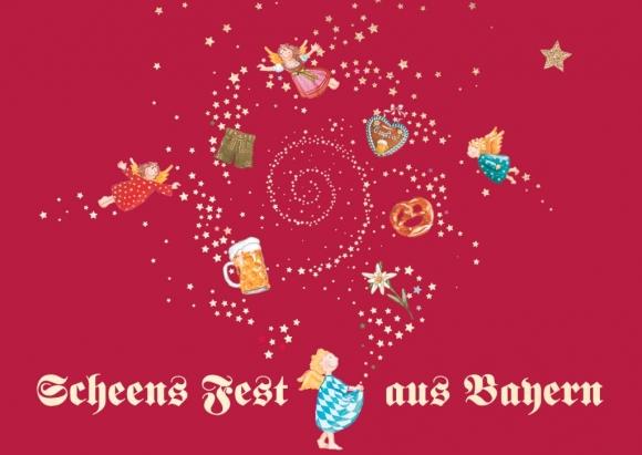 Doppelkarte: Scheens Fest aus Bayern - Engel