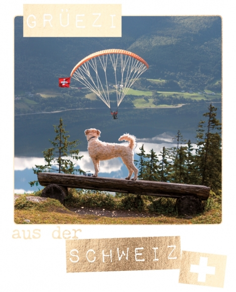 Postkarte: Grüezi aus der Schweiz