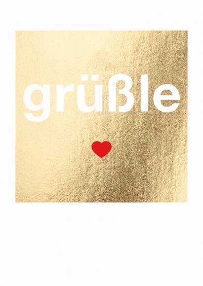 Postkarte: grüßle
