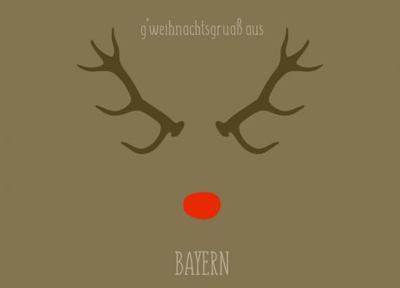 Doppelkarte: g'weihnachtsgruaß aus Bayern
