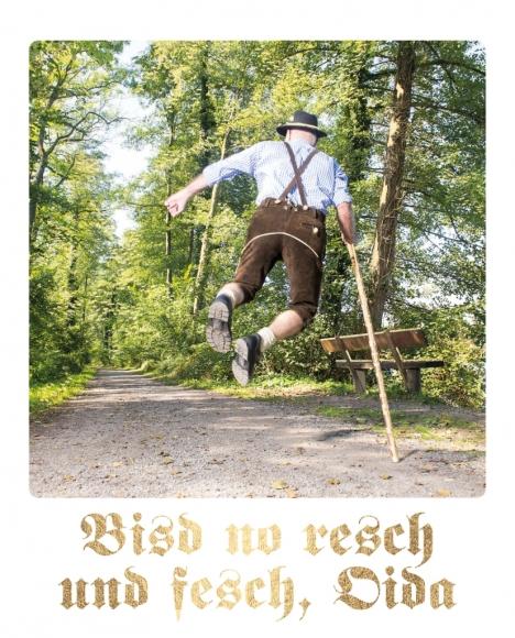 Postkarte: Bisd no resch und fesch, Oida