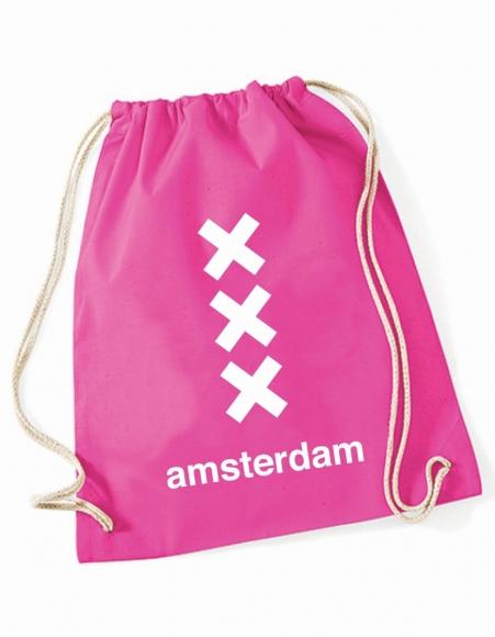 Turnbeutel Amsterdam - 3 Kreuze pink