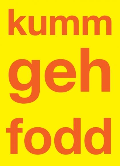 Postkarte: kumm geh fodd