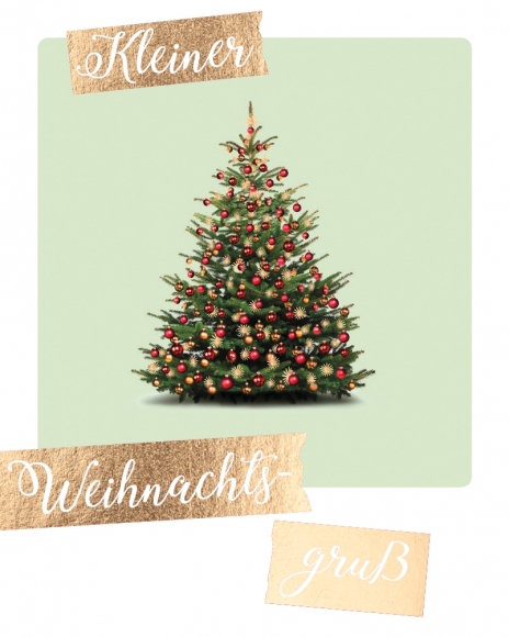 Mini-Postkarte: Kleiner Weihnachtsgruß