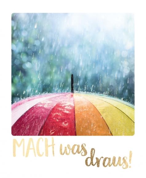 Postkarte: Mach was draus!