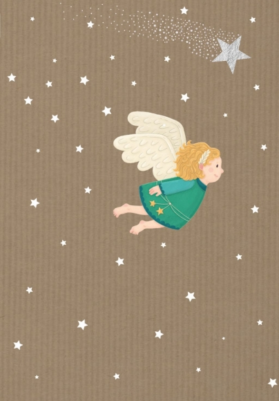 Doppelkarte: Fliegender Engel!
