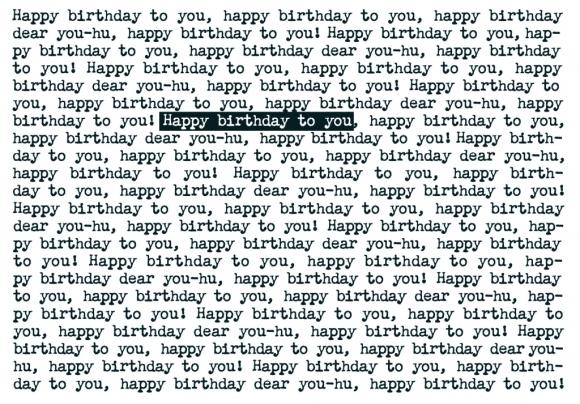 Doppelkarte: happy birthday to you