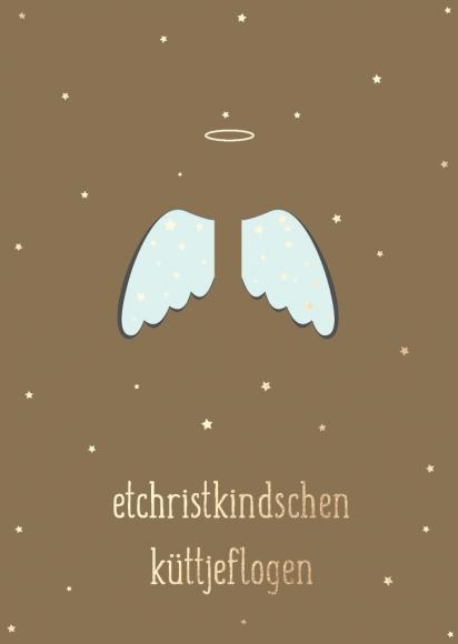 Postkarte: etchristkindschen küttjeflogen