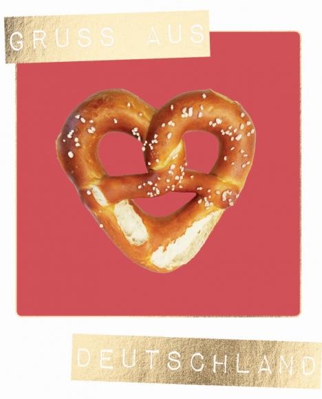 Postkarte: Gruß aus Deutschland