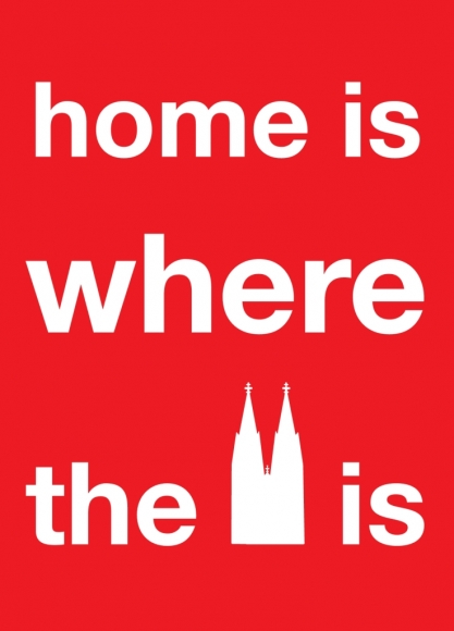 Postkarte: home is where the dome is