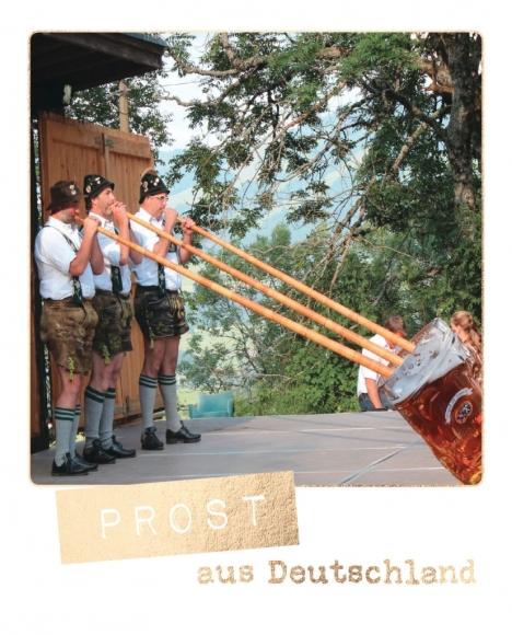 Postkarte: Prost aus Deutschland