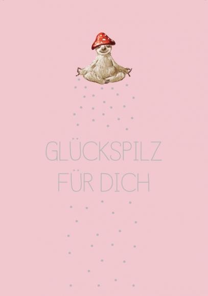 Postkarte: Glückspilz für Dich - Faultier