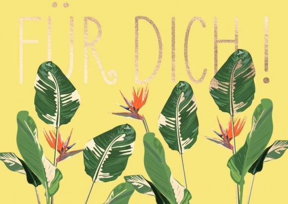 Postkarte: Für Dich!