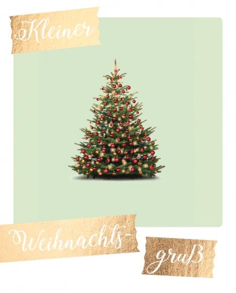 Postkarte: Kleiner Weihnachtsgruß