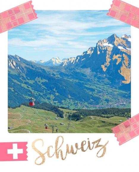 Postkarte: Schweiz