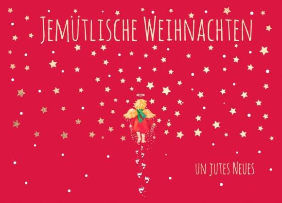 Postkarte: Jemütliche Weihnachten un jutes Neues