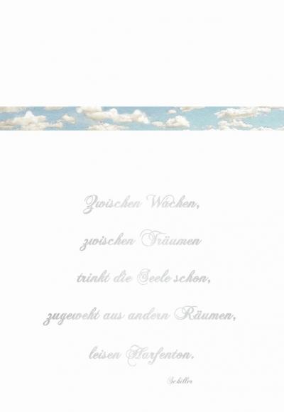 Doppelkarte: Zwischen Wachen, zwischen Träumen (Schiller)
