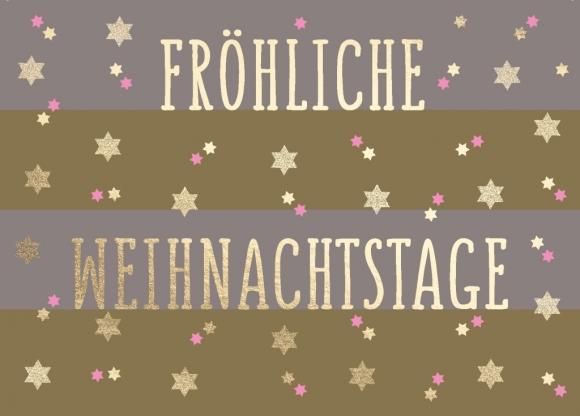 Postkarte: Fröhliche Weihnachtstage