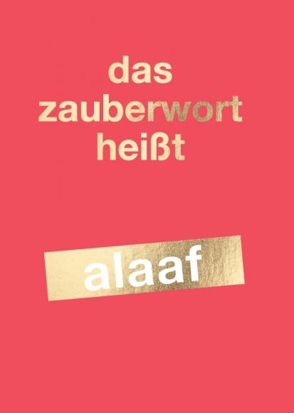 Postkarte: das zauberwort heißt alaaf