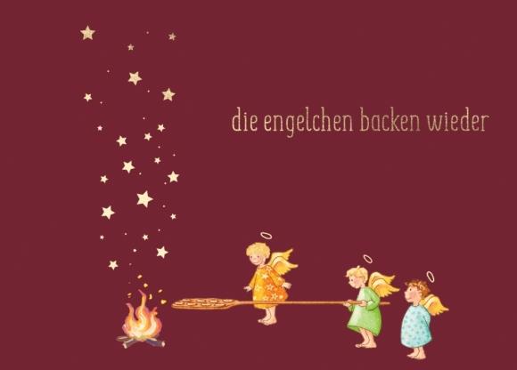 Postkarte: Die Engelchen backen wieder
