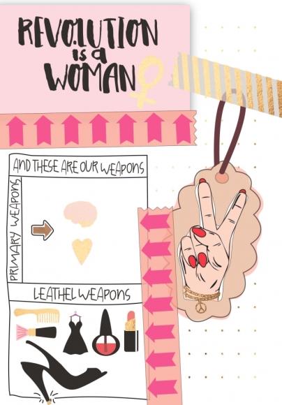 Postkarte: Revolution is a woman