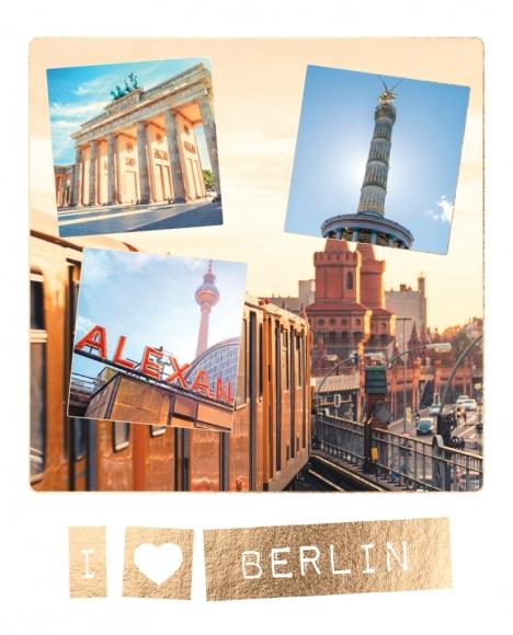 Postkarte: I love Berlin