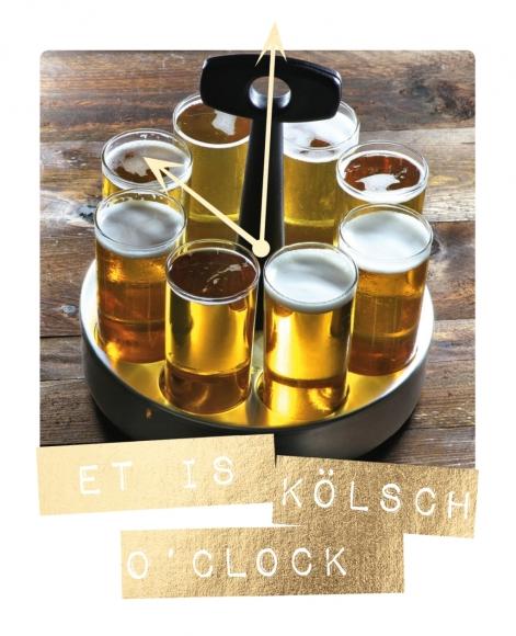 Postkarte: Et is Kölsch o ´ clock
