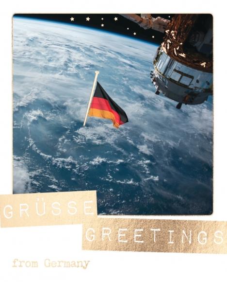 Postkarte: Grüße, Greetings from Germany