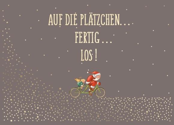 Postkarte: Auf die Plätzchen... Fertig... Los!