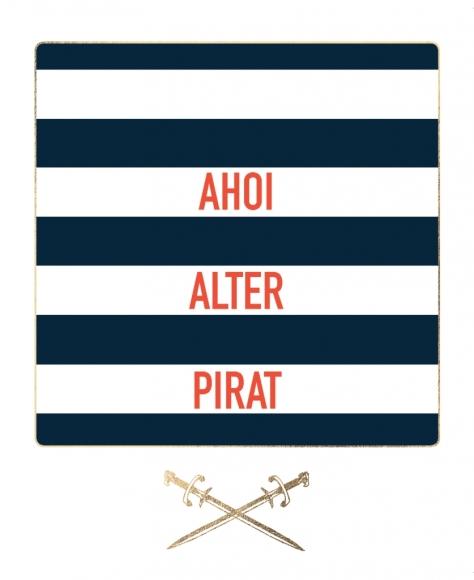 Postkarte: Ahoi alter Pirat