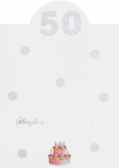 Doppelkarte: Herzlichen Glückwunsch - 50