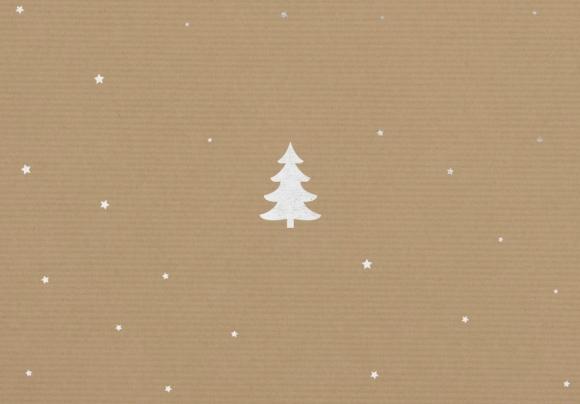 Doppelkarte: Tannenbaum - Packpapier