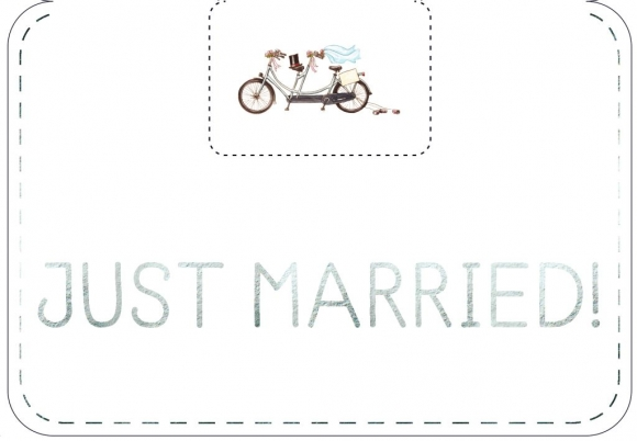 Doppelkarte: Just Married!