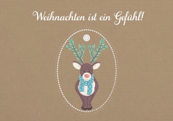 Doppelkarte: Weihnachten ist ein Gefühl