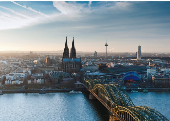 Doppelkarte: Blick über Köln