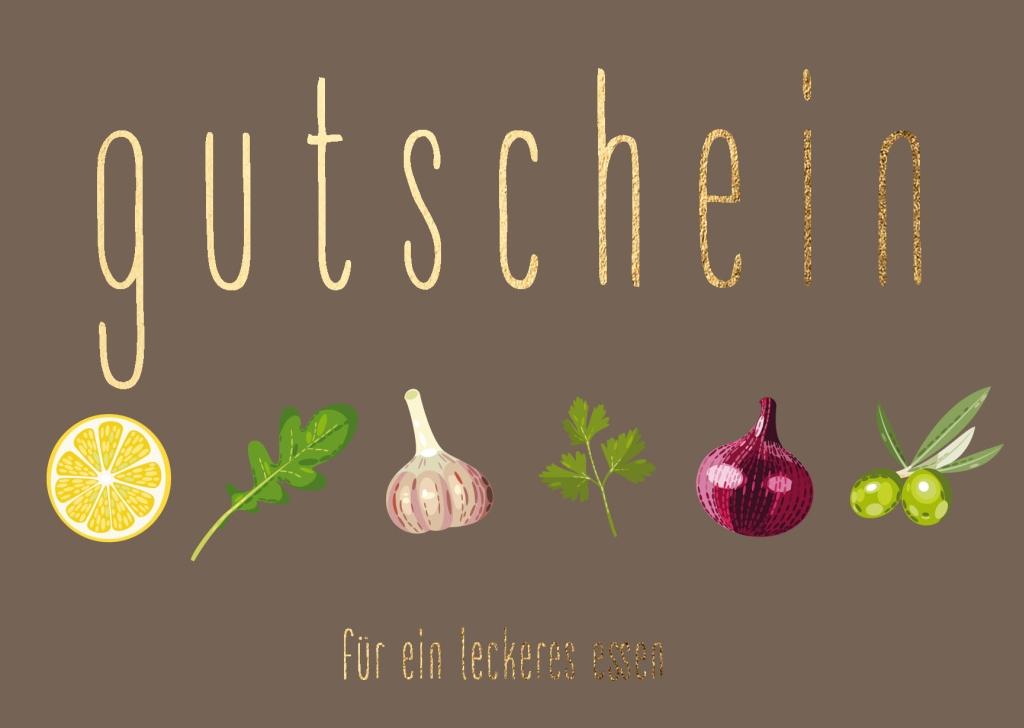 Doppelkarte: Kräuter - Gutschein für ein leckeres Essen