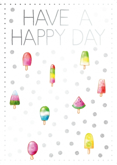 Postkarte: Have a happy day
