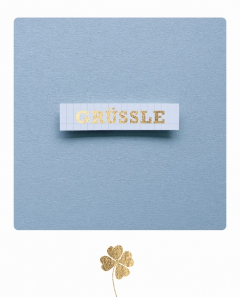 Postkarte: grüssle - Schild