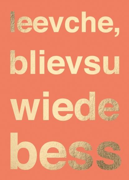 Postkarte: leevche, blievsuwiedebess
