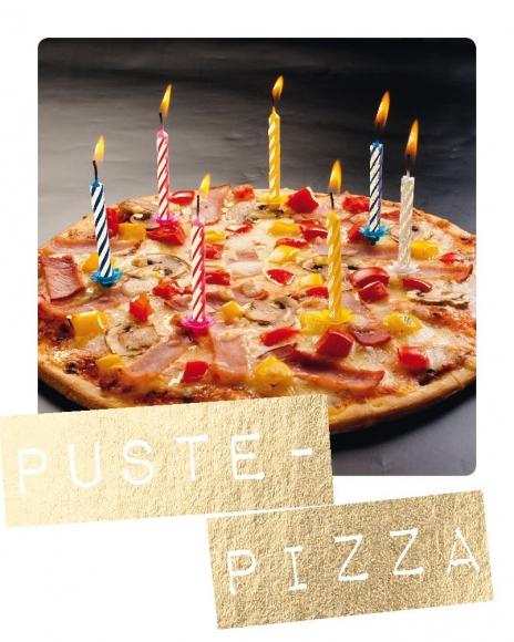 Mini-Postkarte: Puste-Pizza